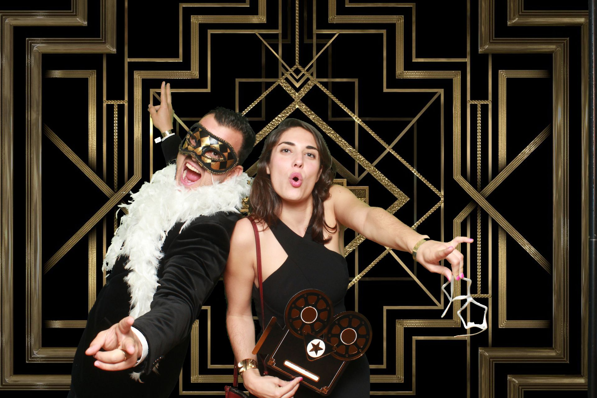 Hollywood themed photo booths
